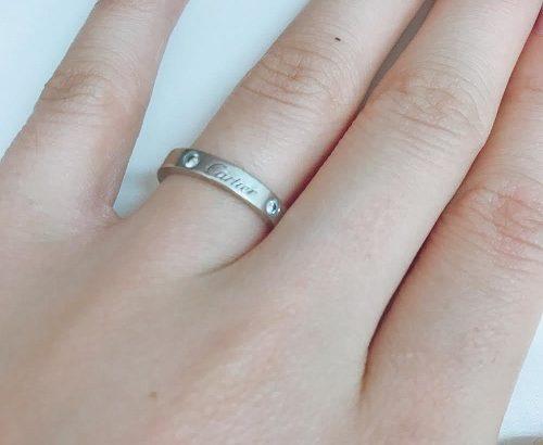 【私の婚約指輪】結婚指輪と兼用でカルティエのロゴ入り(口コミ・体験談)