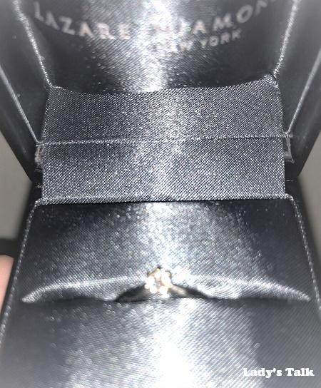 レディーズトーク、ラザールダイヤモンドの婚約指輪