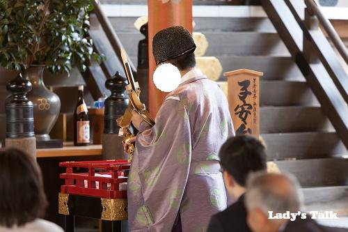 福岡県福岡市の櫛田神社でお宮参り