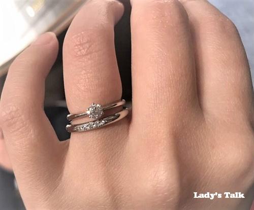 レディーズトーク、銀座ダイヤモンドシライシの婚約指輪