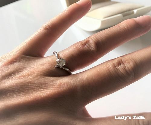 レディーズトークーダイヤモンドシライシの婚約指輪