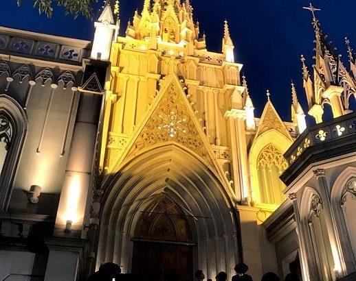 [参列者の感想] 青山セントグレース大聖堂でのステンドグラスが印象的な結婚式