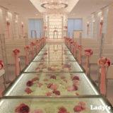 [花嫁レポ] ラグナヴェール仙台のお花が散りばめられたチャペルでの結婚式
